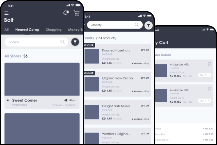 Online-Shopping-App-Wireframes