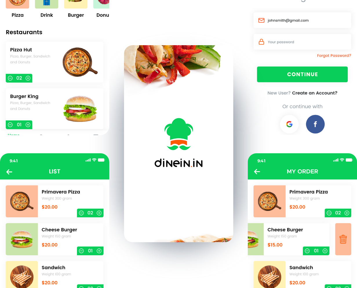dinein-mobile-app-screen