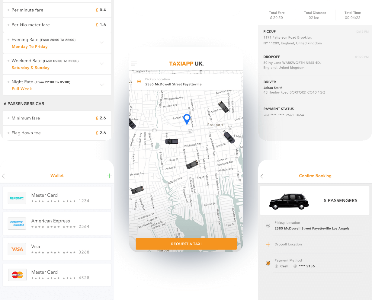 TaxiApp-UK-App-Screens