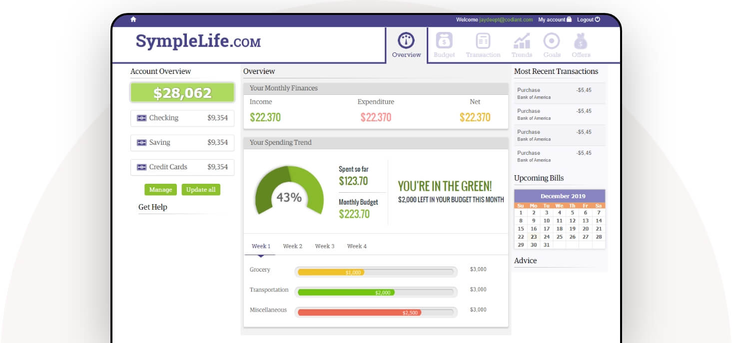 banking and finance website