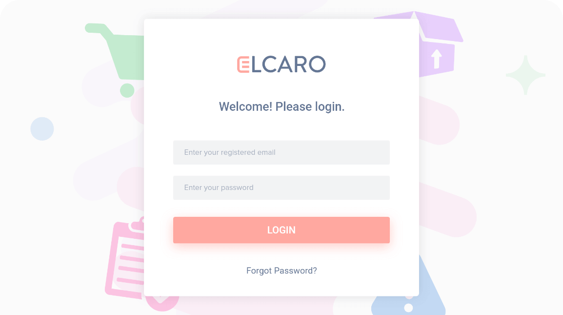 elcaro-login-screen